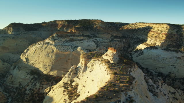 eagle canyon, utah at sunset - aerial view - san rafael swell stock videos and b-roll footage