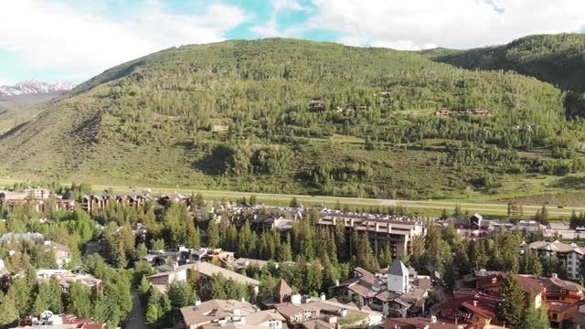 eagle county colorado. wonderful aerial view of vail on a sunny day. 4k video - colorado stock videos & royalty-free footage