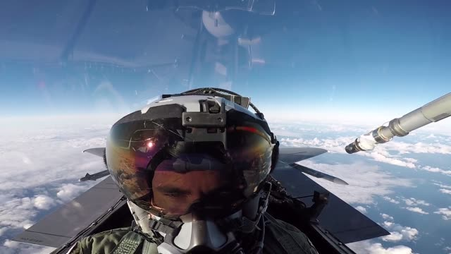 Eagle F35 Lightning and Dassault Rafale participate in Exercise Point Blank 183 a recurring large force exercise designed and cohosted by the Royal...