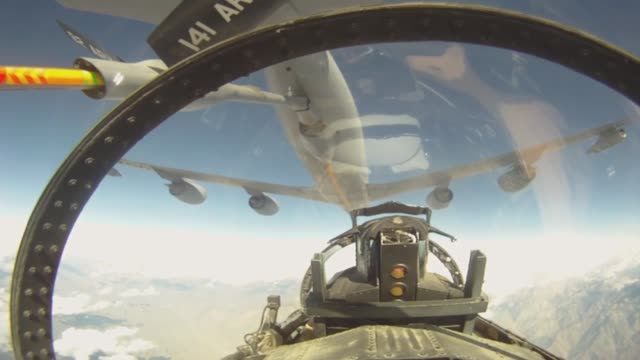 Eagle in flight and air to air refueling Afghanistan
