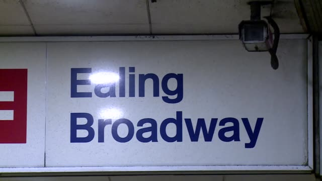 ealing broadway subway station in london - ceiling stock videos & royalty-free footage