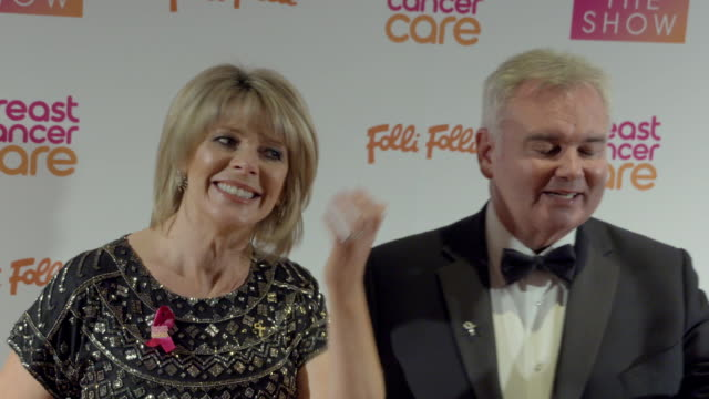 eamonn holmes, ruth langsford at breast cancer care show london in association with folli follie- evening show at park plaza westminster bridge hotel... - エイモン ホームズ点の映像素材/bロール