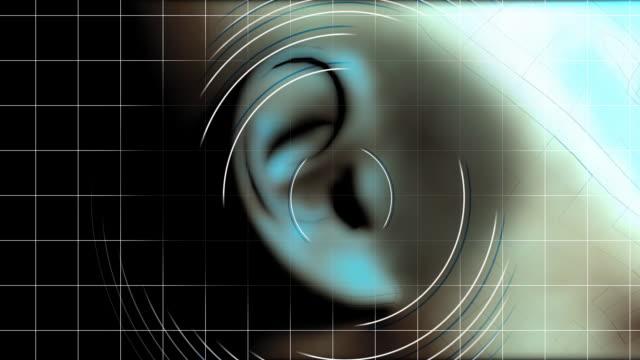 ear hearing waves - öra bildbanksvideor och videomaterial från bakom kulisserna