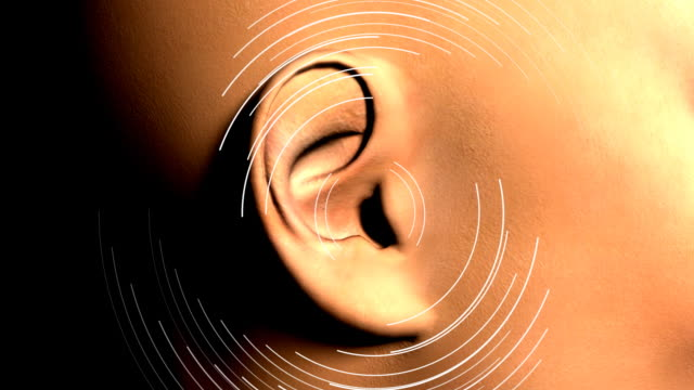 ear hearing waves - human ear stock videos & royalty-free footage
