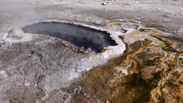 ear spring, yellowstone national park, winter - spring flowing water stock videos and b-roll footage