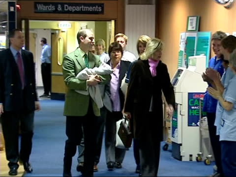 Earl and Countess of Wessex take their baby home from hospital SKY MSs Edward and Sophie bidding farewell to staff as leaving hospital Edward along...