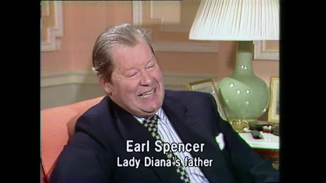 earl spencer, lady diana's father, talks about how prince charles phoned him to inform him of the engagement and ask his permission to marry his... - daughter stock videos & royalty-free footage