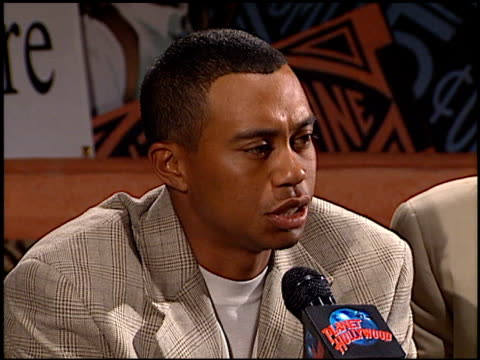 Earl Woods at the Tiger Jam Press Conference at Planet Hollywood in Beverly Hills California on April 17 1998