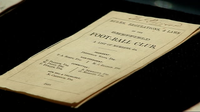 Earliest football rulebook sold at auction for 881250 pounds London Sotheby's INT Close shots of Sheffield FC book of rules