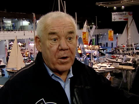 Tony Bullimore Hall of Fame stand / interview Tony Bullimore interview SOT Describes his Vendee Globe adventure and his upcoming sail around the...