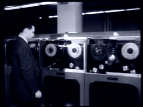 early computers on april 01 1959 in new york new york - 1950 1959 stock videos & royalty-free footage