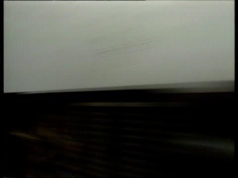 early eurostar train travelling through the channel tunnel / folkstone united kingdom - la manica video stock e b–roll