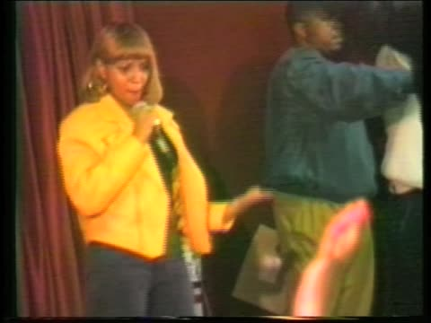 early footage of mary j blige in 1992 performing in brooklyn ny - performing arts event stock videos and b-roll footage