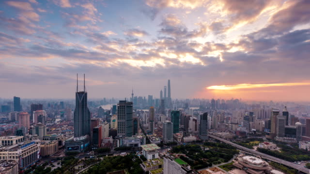 T/L Early morning clouds over Shanghai