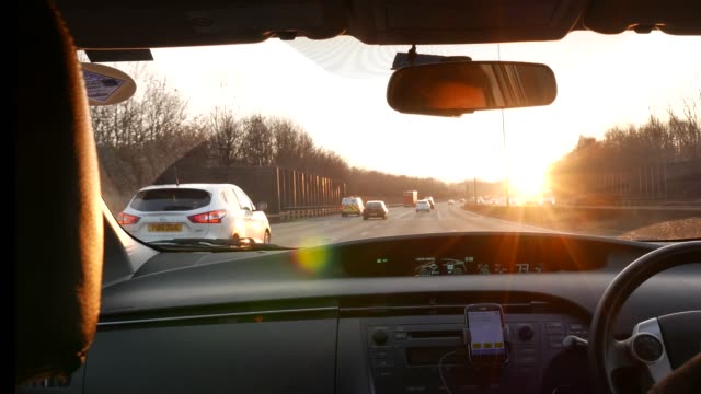 early morning driving - motorway stock videos & royalty-free footage