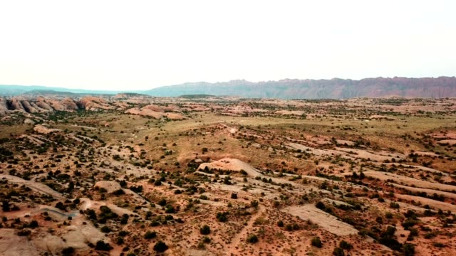vidéos et rushes de tôt le matin à moab - utah