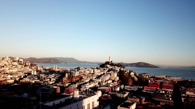 early morning in san francisco - coit tower stock videos & royalty-free footage
