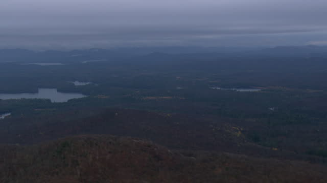 early morning in saranac lakes wild forest - lake placid town stock videos and b-roll footage