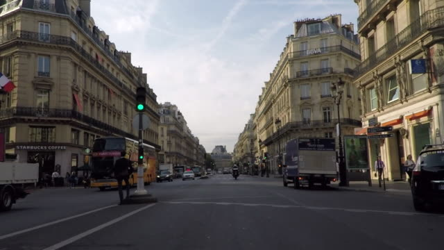 early morning on the avenue de l'opera.paris. - paris france stock videos & royalty-free footage