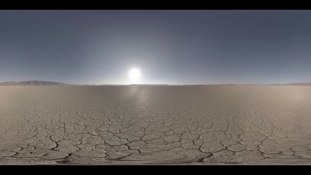 early morning over the desert - horizont über land stock-videos und b-roll-filmmaterial