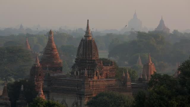 Early morning pagodas in Myanmar