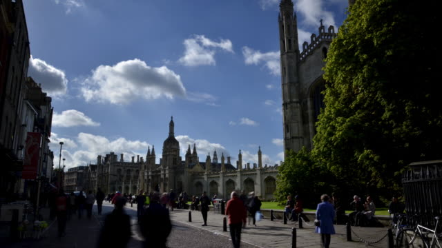 Early morning view of Kings College Chapel and Kings College Cambridge