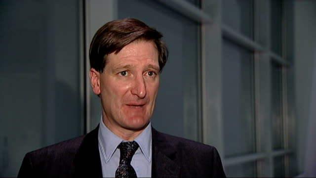 early release of 2 convicted terrorists as part of policy to ease prison overcrowding england london int dominic grieve mp interview sot - dominic grieve stock videos and b-roll footage