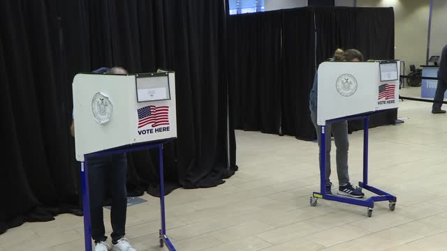 early voting began in new york on saturday to vote for 2020 presidential election on nov. 3. thousands of new yorkers stood in line in front of... - correspondence stock videos & royalty-free footage