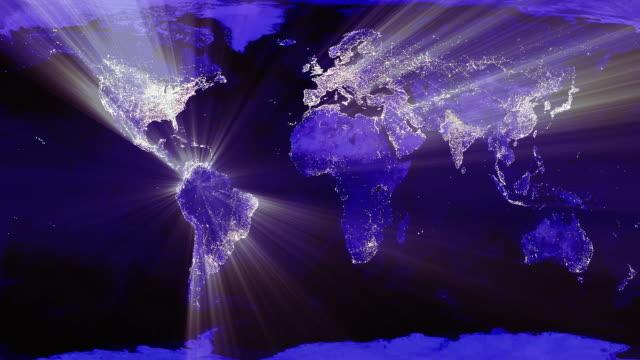 eart night lights 1080p hd - dark blue stock videos & royalty-free footage
