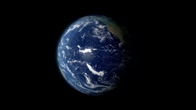 Terra Rotazione 360 gradi centrata sul Brasile e zoom