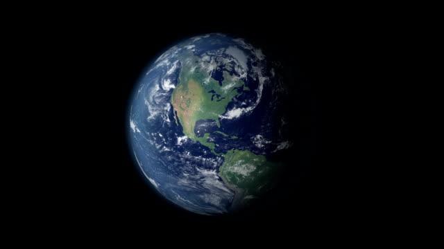 terra rotazione 360 gradi centrata e zoom in egitto - sinai egitto video stock e b–roll