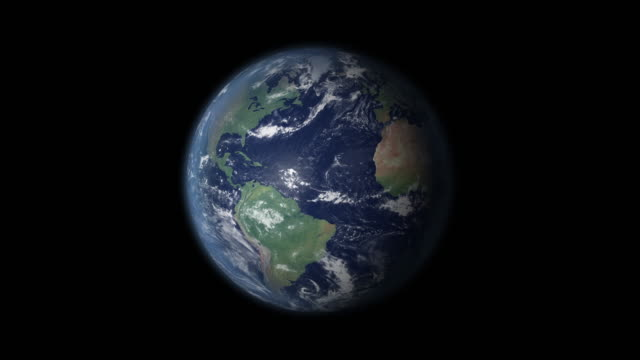 earth 360 rotation and zoom centered on germany - globe stock videos & royalty-free footage