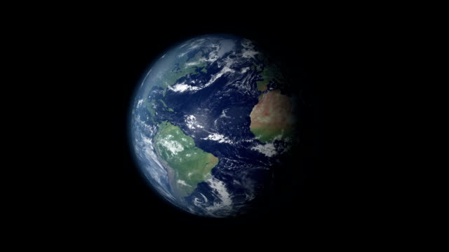 earth 360 rotation and zoom centered on great britain - turning stock videos & royalty-free footage