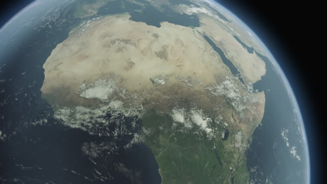 earth africa b - satellite view stock videos & royalty-free footage