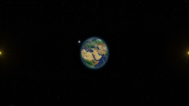 Earth and Space - Virtual Reality 360 Degrees View