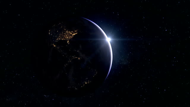 earth and usa from space - atmosphere stock videos & royalty-free footage