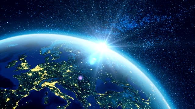 地球アニメーション 4 k - ビジネスと経済点の映像素材/bロール