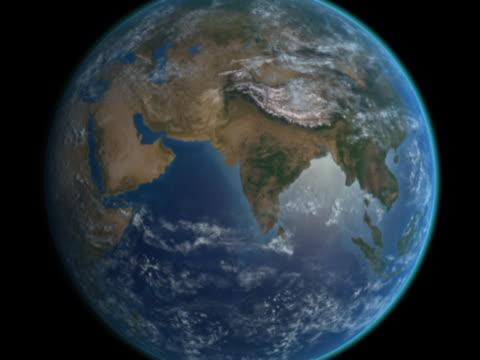 vidéos et rushes de earth approaches - iran and afghanistan - hémisphère nord