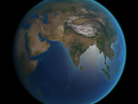 vidéos et rushes de earth approaches -iran and afghanistan - hémisphère nord