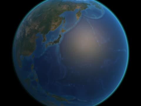 vidéos et rushes de earth approaches - japan and korea - hémisphère nord