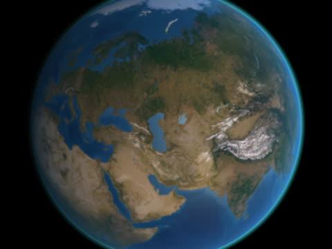 vidéos et rushes de earth approaches - moscow, russia - hémisphère nord