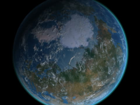 earth approaches - north pole - artbeats stock videos & royalty-free footage