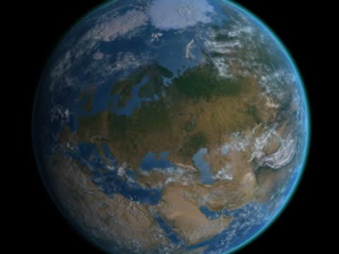 vidéos et rushes de earth approaches - sweden - hémisphère nord