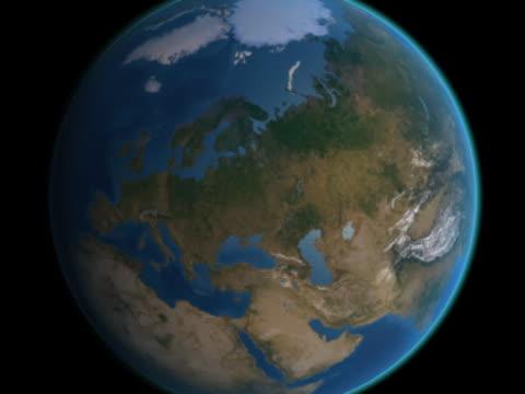 vidéos et rushes de earth approaches -sweden - hémisphère nord