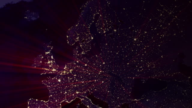 earth at night - 4k - satellite view stock videos and b-roll footage