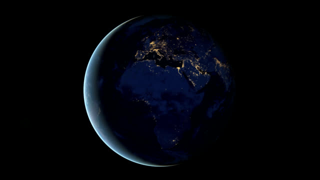 vidéos et rushes de earth at night - globe terrestre