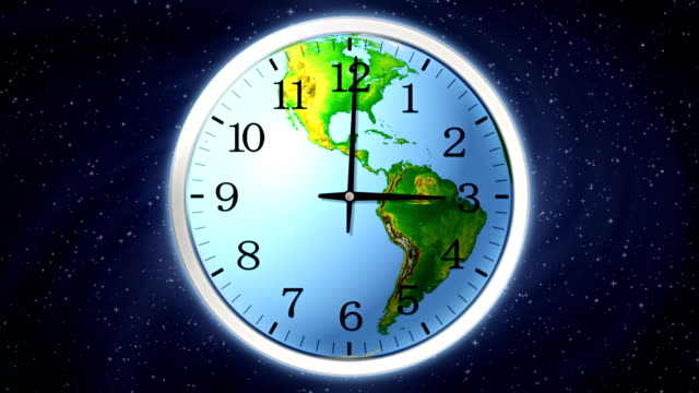 stockvideo's en b-roll-footage met earth clock. - getal 4