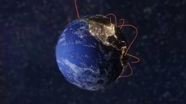 vidéos et rushes de réseau international earth connection lines - nombre d'or