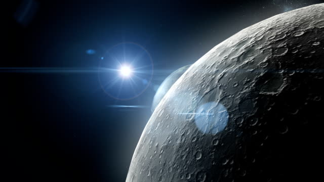 earth emerging from behind the moon - sun stock videos & royalty-free footage