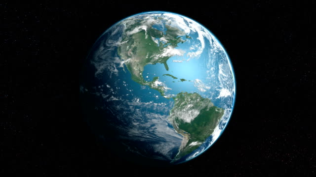 earth from space loop - globe navigational equipment stock videos & royalty-free footage